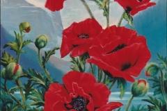 Poppy Homage to Lake Louise, F329, 36x24