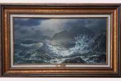 Rapturing Wave, 15x30 Original Mixed Media Painting by Loren D. Adams Jr.