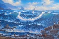 Daylight Seascape 10x20 Oil
