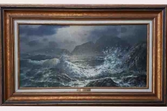Rapturing Wave, by Loren D. Adams Jr., 15x30 Original Mixed Media Painting