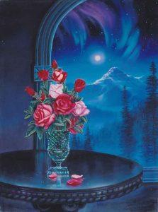 Midnight Tango 40x30 Original Mixed Media Painting